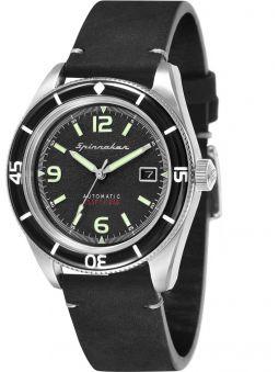 Montre homme SPINNAKER FLEUSS automatique bracelet cuir noir