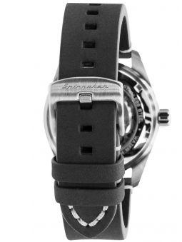 Montre homme SPINNAKER FLEUSS automatique bracelet en cuir noir