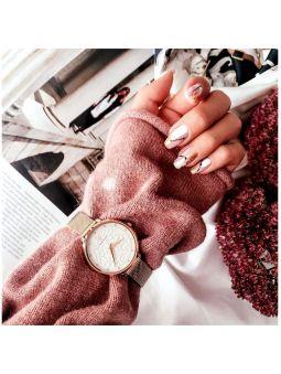 Coffret de montre femme Pierre Lannier 2 bracelets avec cadran motif fleuri