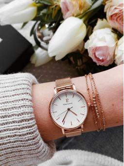 Coffret de montre femme Pierre Lannier acier doré rose et bracelet assorti