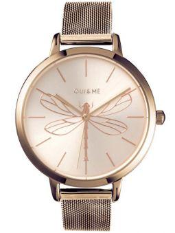Montre femme Oui & Me grande fleurette libellule bracelet milanais
