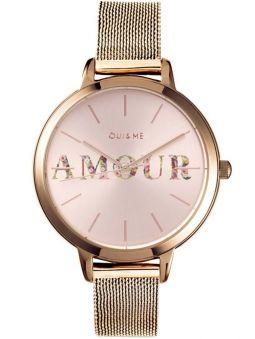 Montre femme Oui & Me fleurette Amour bracelet milanais