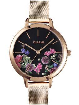 Montre femme Oui & Me fleurette bracelet milanais