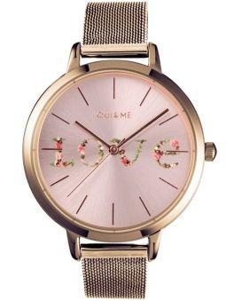 Montre femme Oui & Me grande fleurette Love bracelet milanais