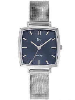 Montre femme Go carrée argentée bracelet milanais
