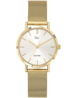Montre femme Go bracelet milanais doré jaune