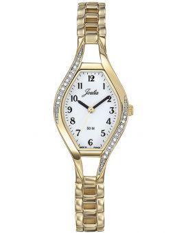 Montre femme Certus Joalia dorée fond blanc