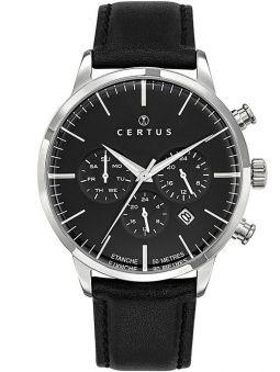 Montre homme Certus cuir noir chronographe