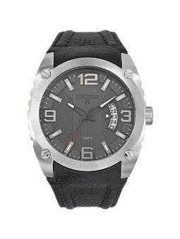 Bracelet de montre Hector H cuir noir