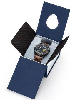 Montre homme Patrouille de France Athos 4 Charognard Chronographe bracelet cuir marron