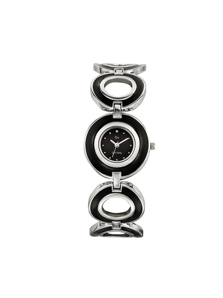 Montre femme GO Girl Only bracelet en cercles noir