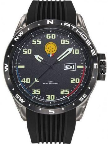 Montre homme Patrouille de France Athos 2 bracelet silicone noir
