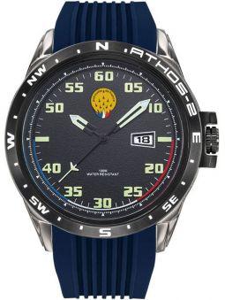 Montre homme Patrouille de France Athos 2 bracelet silicone bleu