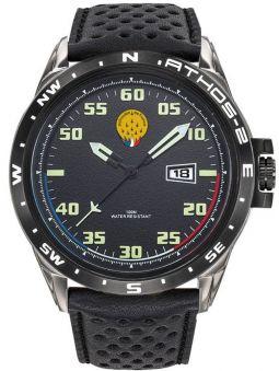 Montre homme Patrouille de France Athos 2 bracelet cuir noir