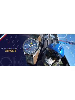 Montre homme Patrouille de France automatique Athos 5 cuir