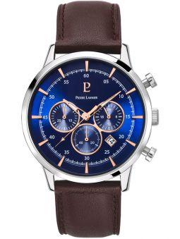 Montre homme Pierre Lannier chrono bracelet cuir brun