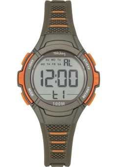 Montre enfant Tekday grise et orange