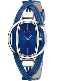 Montre femme Elixa cuir multi-lanières bleu