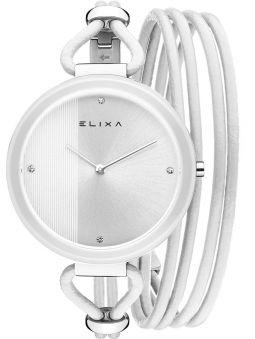 Montre femme Elixa lunette céramique blanche et verre saphir