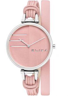 Montre femme Elixa cuir rose bracelet double