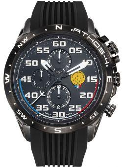 Montre homme Patrouille de France Athos 4 Charognard Chronographe bracelet silicone noir