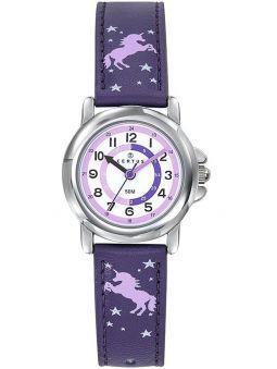 Montre enfant Certus violette avec licorne