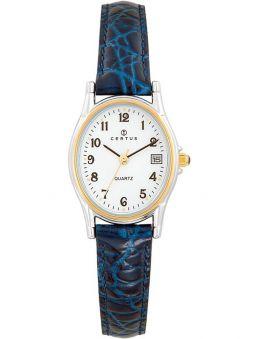 Montre femme Certus bracelet cuir bleu