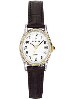 Montre femme Certus bracelet cuir noir