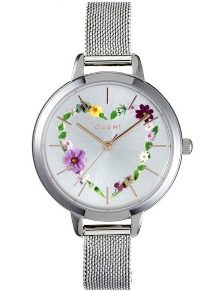 Montre femme Oui & Me petite fleurette bracelet milanais