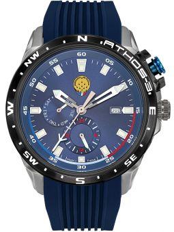 Montre homme Patrouille de France Athos 3 chronographe bracelet silicone bleu