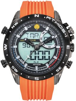 Montre homme Patrouille de France Athos 1 Leader double affichage silicone orange
