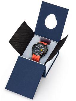 Montre homme Patrouille de France Athos 4 Charognard Chronographe bracelet silicone orange