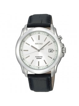 Montre Seiko Kinetic homme fond blanc