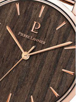 Montre femme Pierre Lannier Nature acier PVD rose bracelet milanais