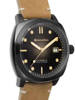 Montre homme SPINNAKER HULL AUTOMATIC automatique cuir camel