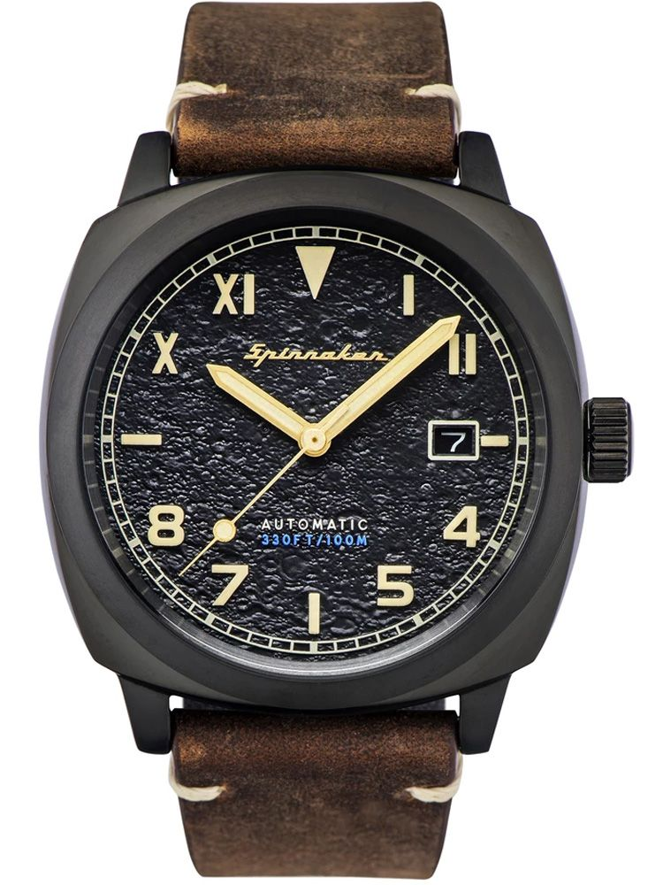 Montre homme SPINNAKER HULL CALIF AUTOMATIC automatique cuir marron