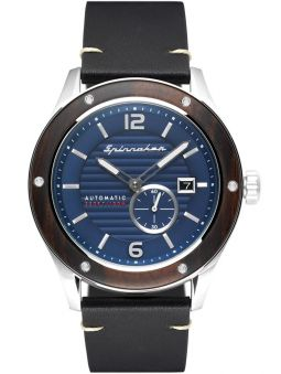 Montre homme SPINNAKER SORRENTO AUTOMATIC automatique lunette bois