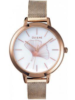 Montre femme Oui & Me amourette gingko bracelet milanais