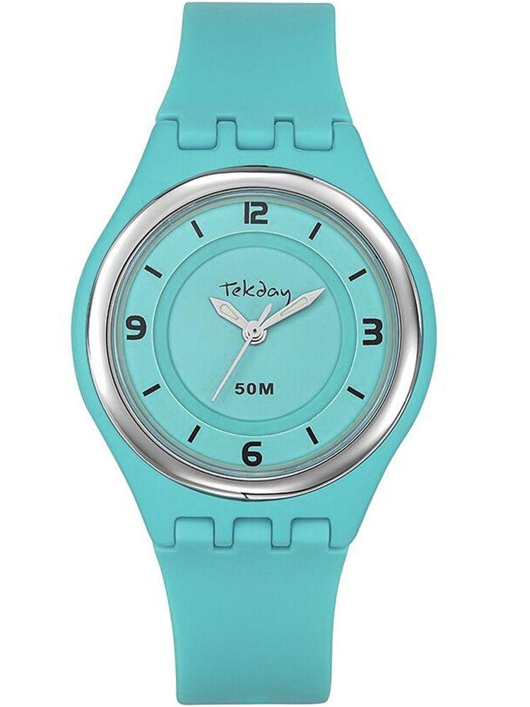 Montre femme Tekday bleue turquoise 654644
