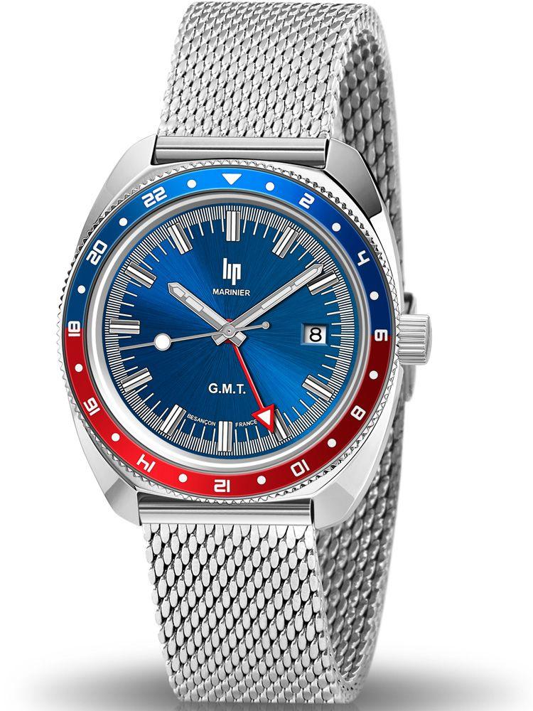 Montre LIP MARINIER GMT bracelet acier 671372