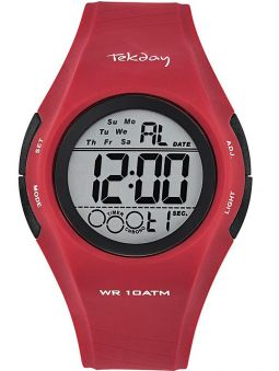 Montre homme Tekday sport rouge
