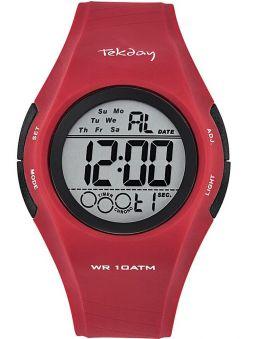 Montre homme Tekday sport rouge 655976
