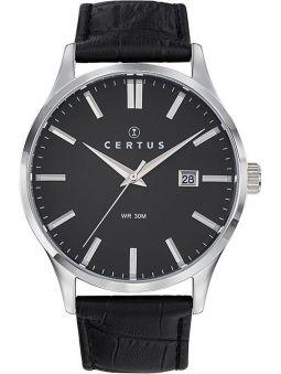 Montre homme Certus bracelet noir fonction calendrier