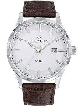 Montre homme Certus bracelet marron fonction calendrier