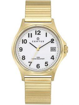 Montre homme Certus doré jaune bracelet extensible