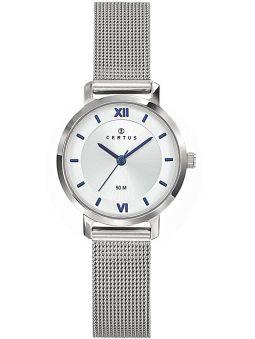 Montre femme Certus argentée bracelet milanais