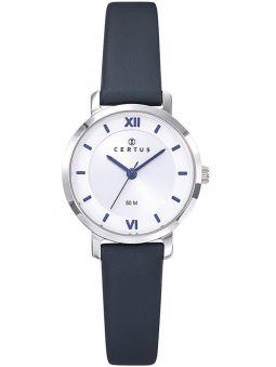 Montre Certus femme bracelet cuir bleu foncé
