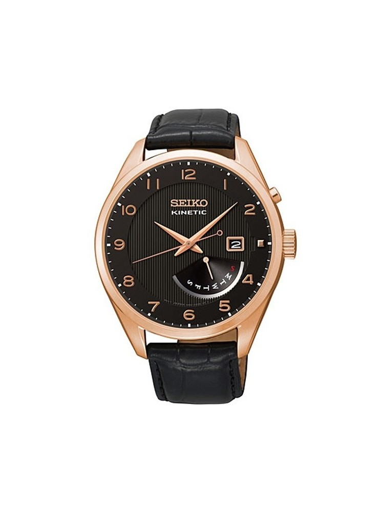 Montre Seiko homme revetement or rose