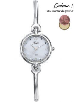 Montre femme Certus Joalia bracelet fin fond nacre