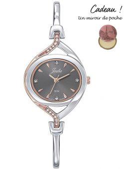 Montre femme Certus Joalia bicolore rose